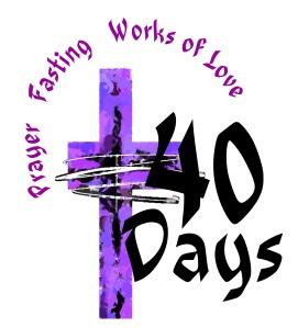 lent 40 days clipart