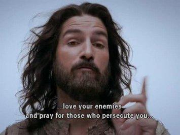 Jesus love enemies