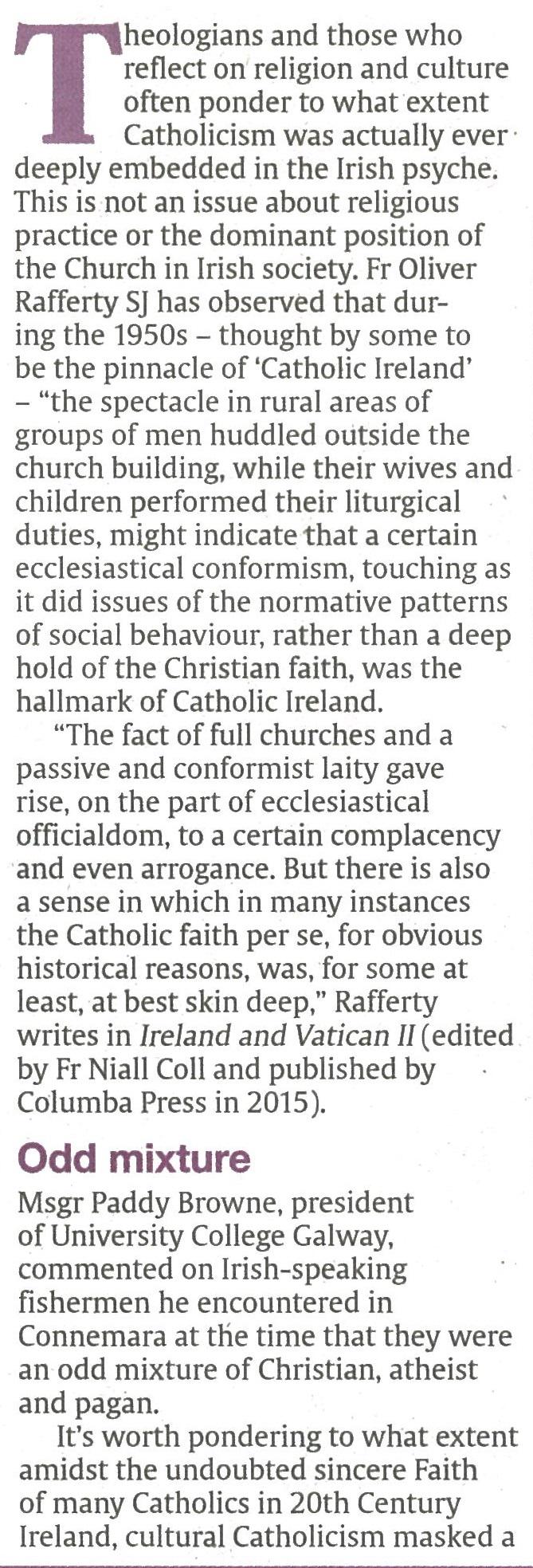 cultural catholicism a