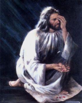 God Jesus holding aborted baby
